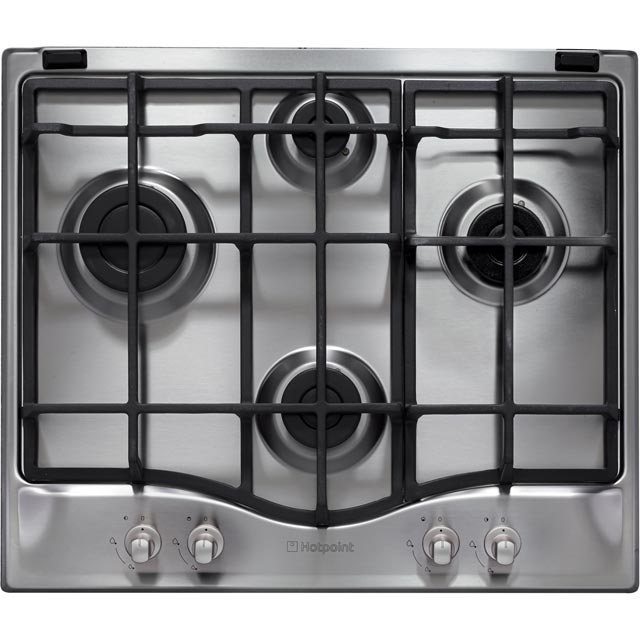 Hotpoint 59cm Gas Hob - Stainless Steel