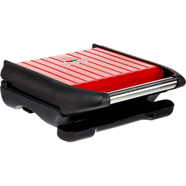 George Foreman 5 Portion Steel Grill Health Grill - Red