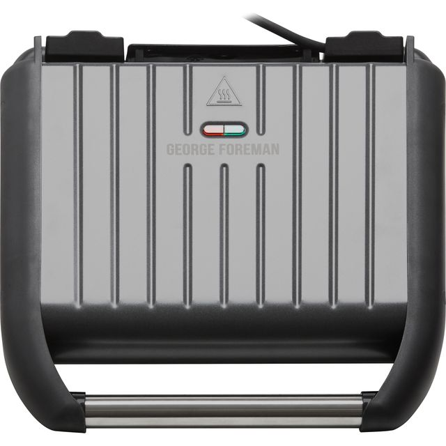 Image of George Foreman 5 Portion Steel Grill 25041 Health Grill - Gun Metal