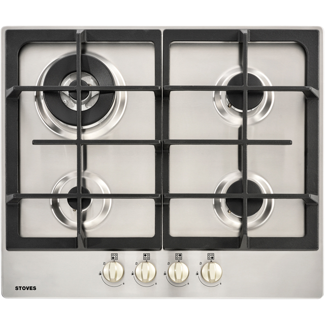 Stoves GHU60C Built In Gas Hob - Stainless Steel - GHU60C_SS - 1