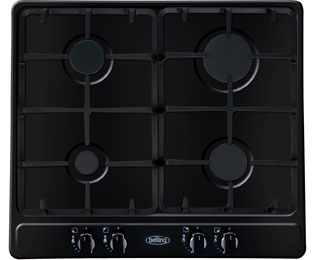 Belling GHU60TGCBK Built In Gas Hob - Black - GHU60TGCBK_BK - 1