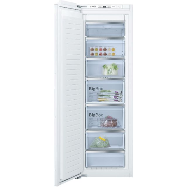 Bosch Serie 6 GIN81AEF0G Integrated Frost Free Upright Freezer