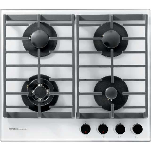 Gorenje Simplicity Collection GKTG6SY2W 58cm Gas Hob - White - GKTG6SY2W_WH - 1