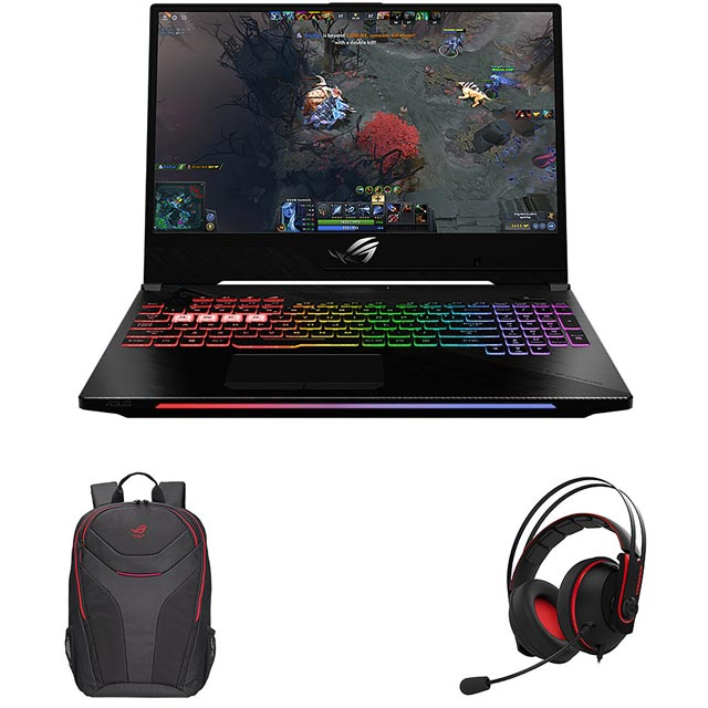 "Asus ROG Strix GL504GM 15.6"" Gaming Laptop Includes Bag & Headset - Black - GL504GM-ES192T - 1"
