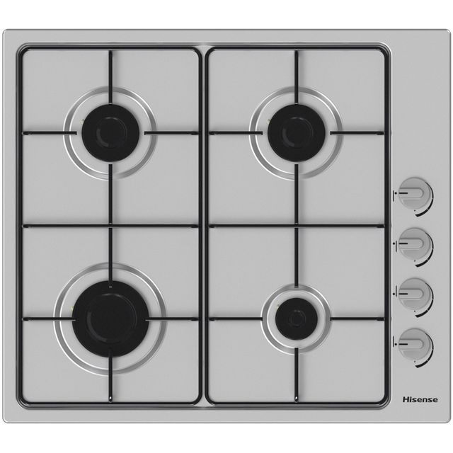 Hisense GM642XSUK Built In Gas Hob - Stainless Steel - GM642XSUK_SS - 1