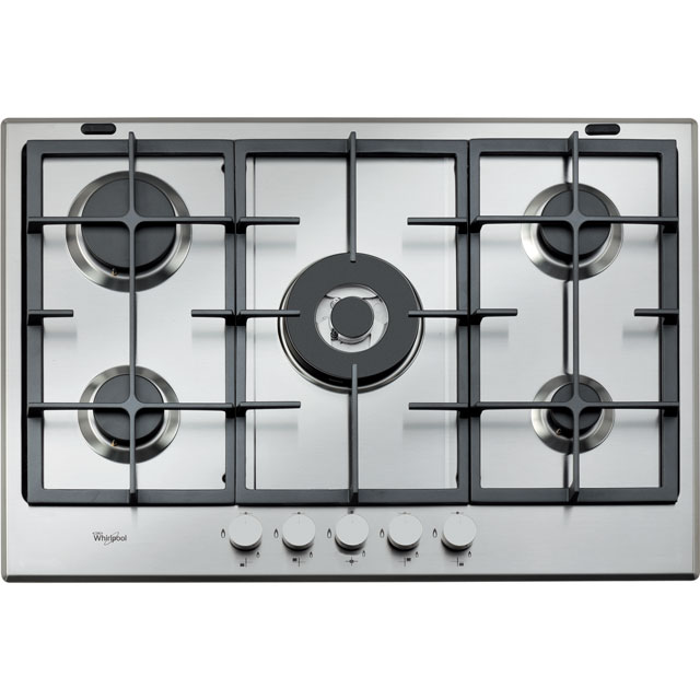 Whirlpool 73cm Gas Hob - Stainless Steel