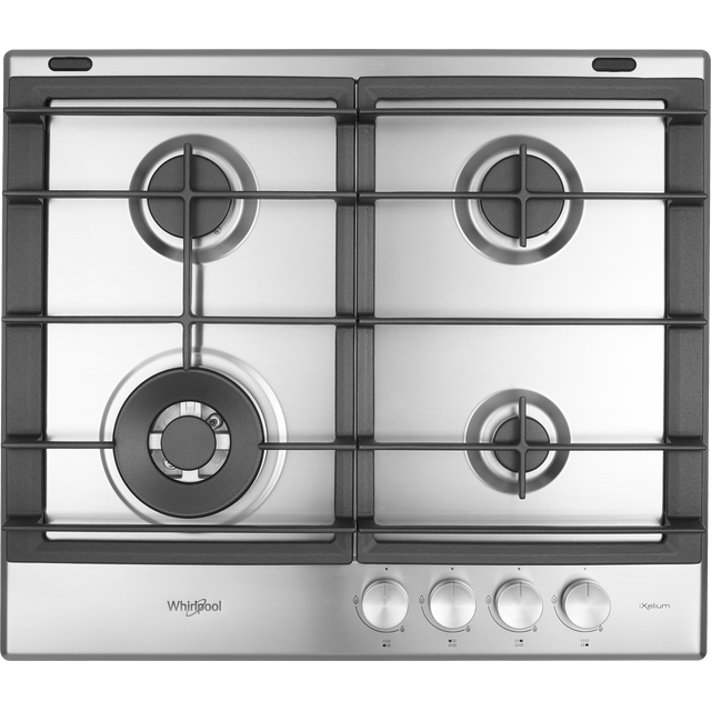 Whirlpool W Collection GMW6422/IXL 59cm Gas Hob - Stainless Steel - GMW6422/IXL_SS - 1