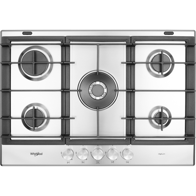 Whirlpool W Collection GMW7552/IXL Built In Gas Hob - Stainless Steel - GMW7552/IXL_SS - 1
