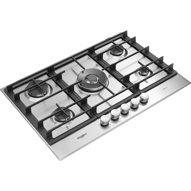 Whirlpool W Collection GMW7552/IXL Built In Gas Hob - Stainless Steel - GMW7552/IXL_SS - 4