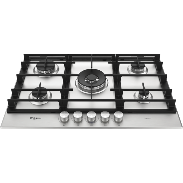 Whirlpool W Collection GMW7552/IXL Built In Gas Hob - Stainless Steel - GMW7552/IXL_SS - 2