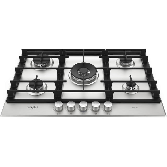 Whirlpool W Collection 73cm Gas Hob - Stainless Steel