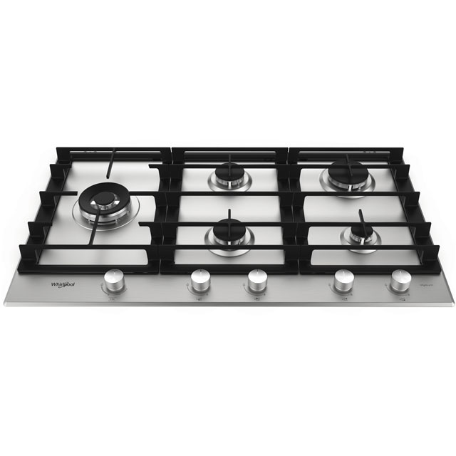 Whirlpool W Collection 86cm Gas Hob - Stainless Steel