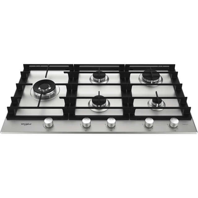 Whirlpool W Collection GMW9552/IXL Built In Gas Hob - Stainless Steel - GMW9552/IXL_SS - 1