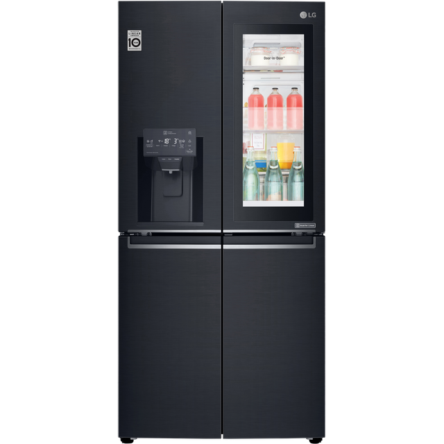 LG InstaView™ Door-in-Door™ GMX844MCKV Wifi Connected American Fridge Freezer - Matte Black - A+ Rated