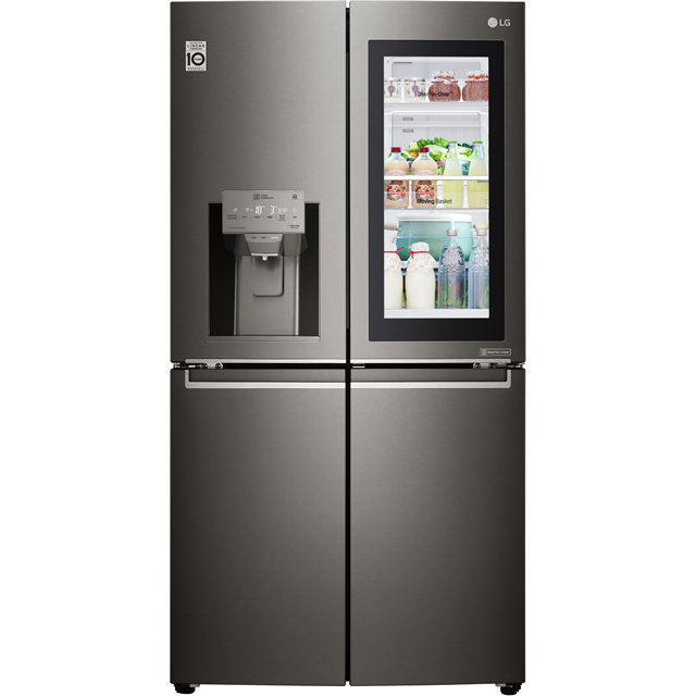 LG InstaView™ Door-in-Door™ GMX936SBHV Wifi Connected American Fridge Freezer - Black Steel - A+ Rated