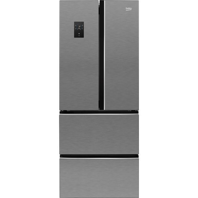 Beko GNE490E20PX American Fridge Freezer - Brushed Steel - A+ Rated - GNE490E20PX_BS - 1