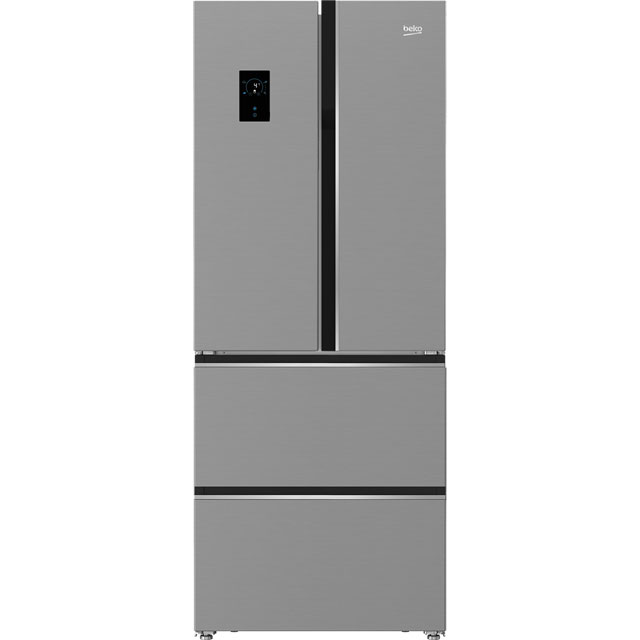 Beko GNE490E20PX American Fridge Freezer - Brushed Steel - A+ Rated