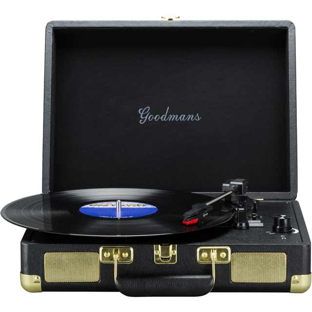Goodmans GDPTURNT01BLK 2 Watt Record Turntable with USB - Black