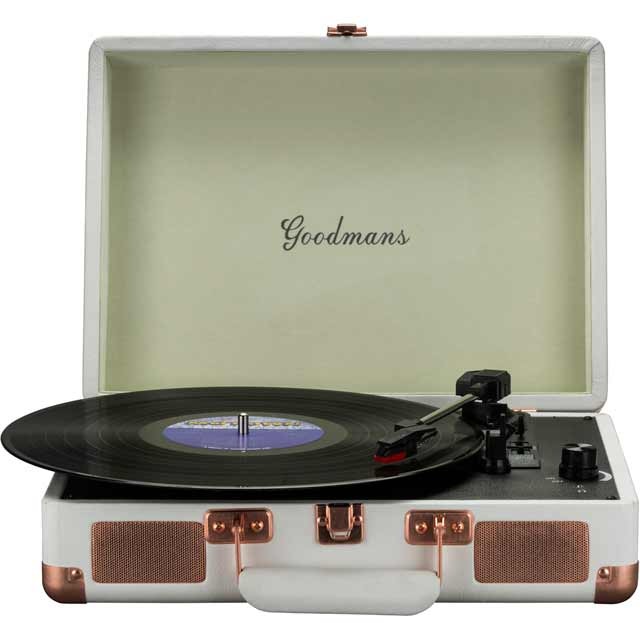 Goodmans GDPTURNT01CRM Turntable in Cream