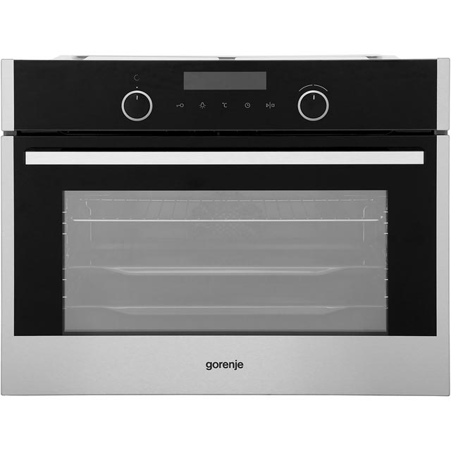 Gorenje BO547S10X Built In Compact Electric Single Oven - Stainless Steel - A Rated - BO547S10X_SS - 1