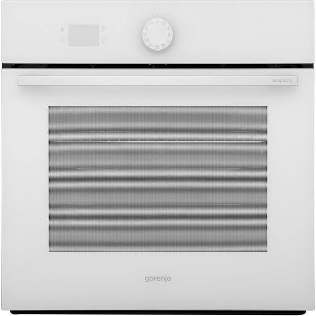 Gorenje Simplicity Collection BO75SY2WUK Built In Electric Single Oven - White - A Rated - BO75SY2WUK_WH - 1