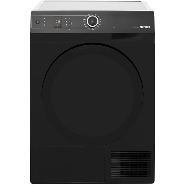 Gorenje Colour Collection D8565NB Free Standing Condenser Tumble Dryer in Black