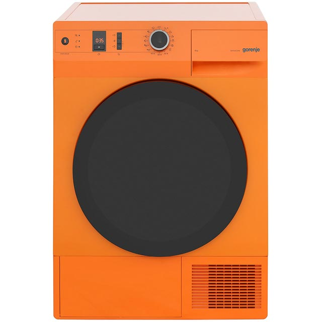 Gorenje Colour Collection Free Standing Condenser Tumble Dryer in Orange
