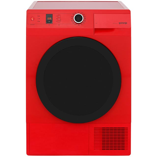 Gorenje Colour Collection Free Standing Condenser Tumble Dryer in Red