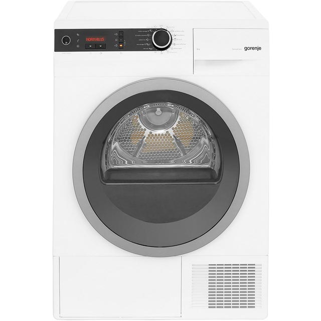 Gorenje D98F66EUK 9Kg Heat Pump Tumble Dryer - White - A++ Rated Best Price, Cheapest Prices
