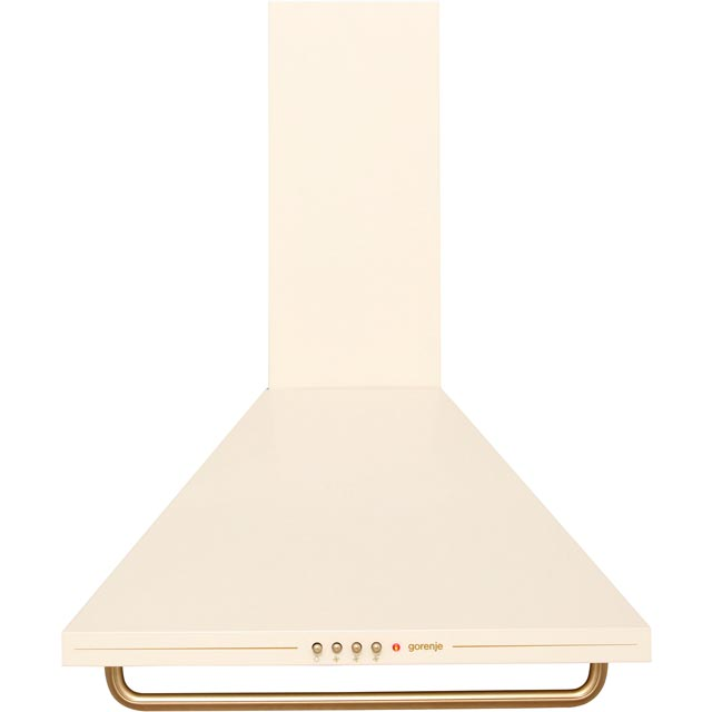 Gorenje Classico Collection 60 cm Chimney Cooker Hood - Ivory Cream - D Rated