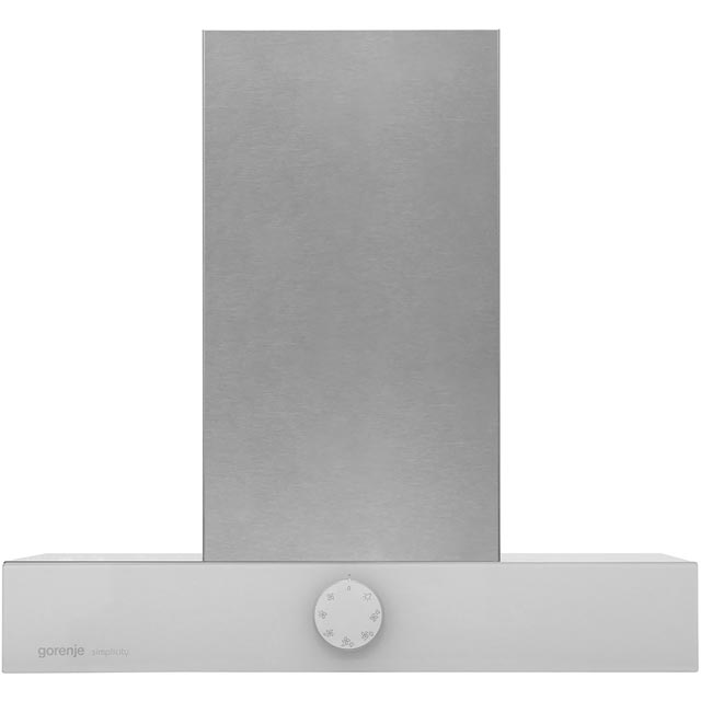 Gorenje Simplicity Collection DT6SY2W 60 cm Chimney Cooker Hood - White / Stainless Steel - D Rated - DT6SY2W_WH - 1