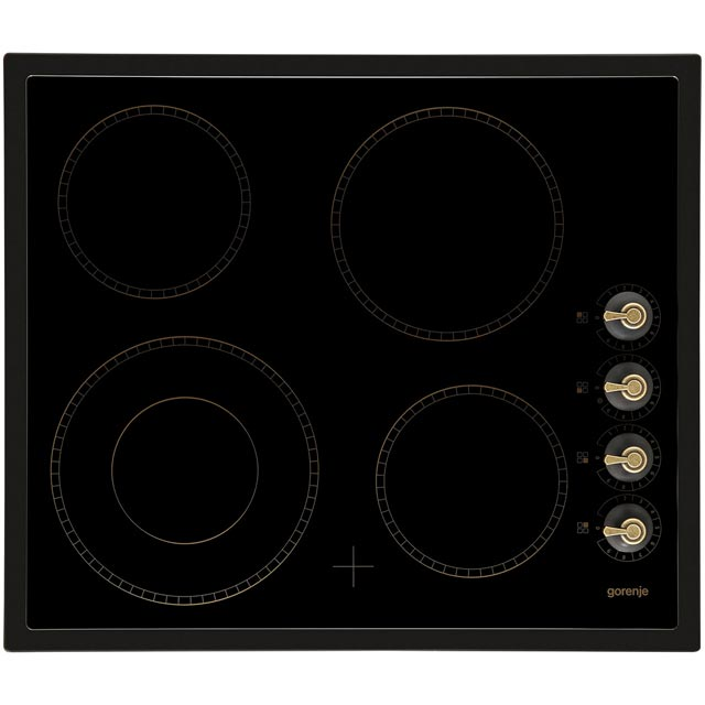 Gorenje Classico Collection ECK63CLB 60cm Ceramic Hob - Matt Black - ECK63CLB_BK - 1
