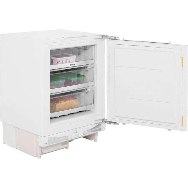 Gorenje Essential Line FIU6F091AWUK Integrated Under Counter Freezer with Fixed Door Fixing Kit - A+ Rated - FIU6F091AWUK_WH - 1