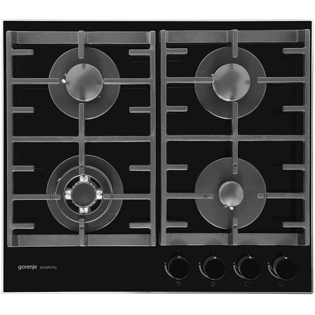 Gorenje Simplicity Collection GKTG6SY2B 58cm Gas Hob - Black - GKTG6SY2B_BK - 1