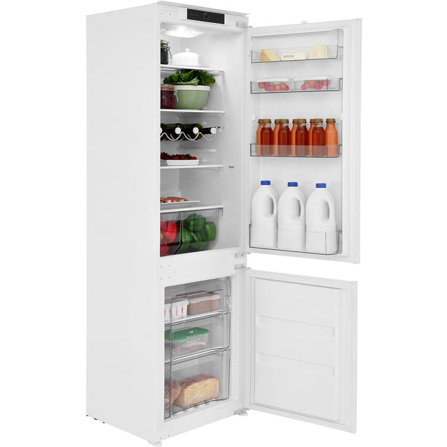 Gorenje Advanced Line NRKI4181CW Integrated 70/30 Frost Free Fridge Freezer with Sliding Door Fixing Kit - White - A+ Rated
