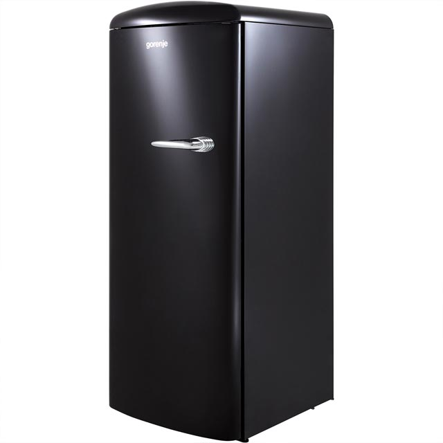 Gorenje Retro Collection ORB153BK-L Fridge with Ice Box - Black - A+++ Rated - ORB153BK-L_BK - 1
