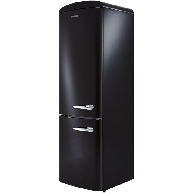 Gorenje Retro Collection ORK193BK-L 70/30 Fridge Freezer - Black - A+++ Rated - ORK193BK-L_BK - 1