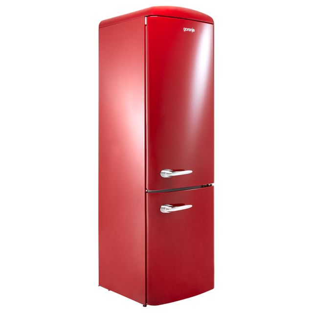 Gorenje Retro Collection ORK193R 70/30 Fridge Freezer - Burgundy - A+++ Rated - ORK193R_BUR - 1
