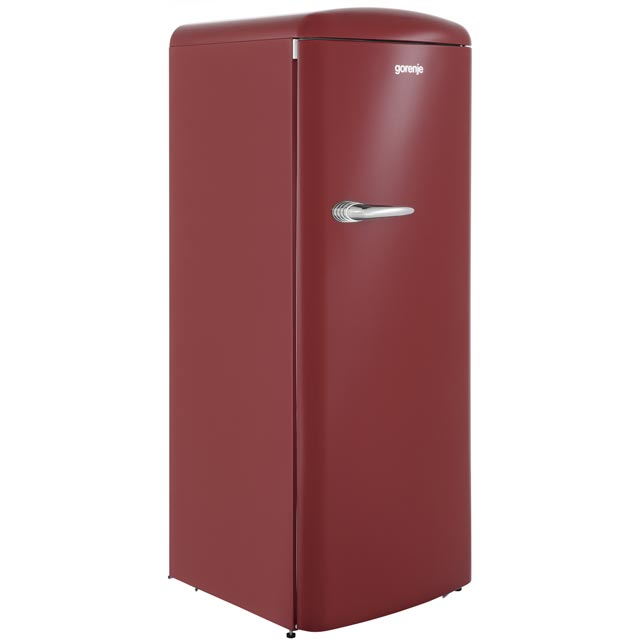 Gorenje Retro Collection RBO6153R Fridge with Ice Box - Burgundy - A+++ Rated