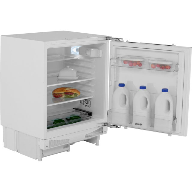 Gorenje Essential Line RIU6F091AWUK Integrated Under Counter Fridge - Fixed Door Fixing Kit - White - A+ Rated - RIU6F091AWUK_WH - 1