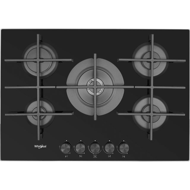Whirlpool W Collection GOW7553/NB Built In Gas Hob - Black - GOW7553/NB_BK - 1