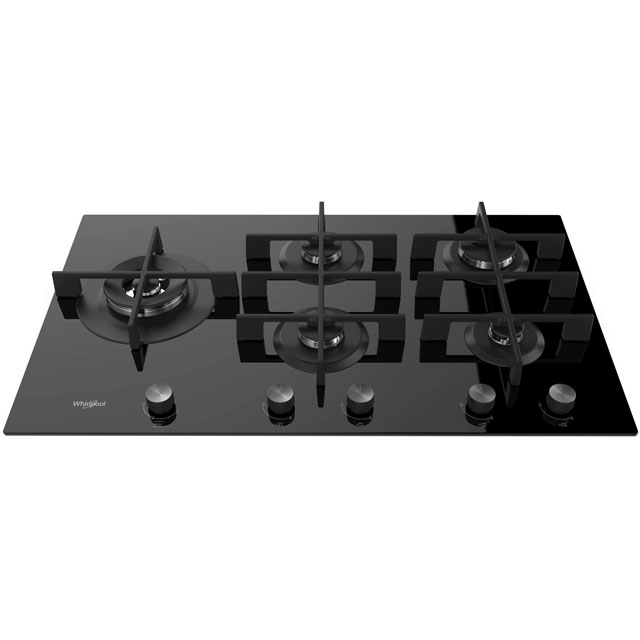 Whirlpool W Collection GOW9553/NB 86cm Gas Hob - Black - GOW9553/NB_BK - 1