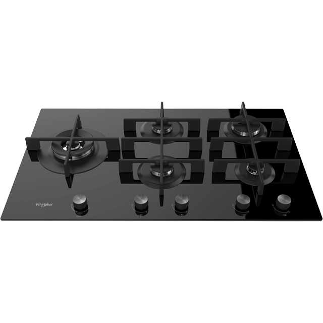 Whirlpool W Collection GOW9553/NB Built In Gas Hob - Black - GOW9553/NB_BK - 1