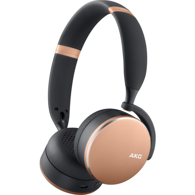 Image of AKG Y500 Over-Ear Wireless Bluetooth Headphones - Rose Gold