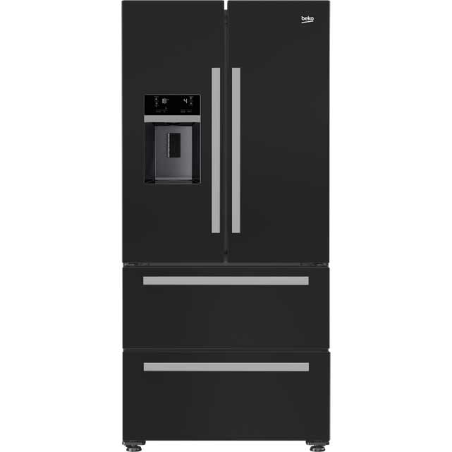 beko grne60520db american fridge freezer black