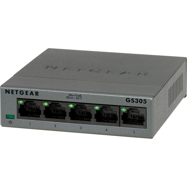 Netgear GS305 GS305-100UKS Routers & Networking in Grey