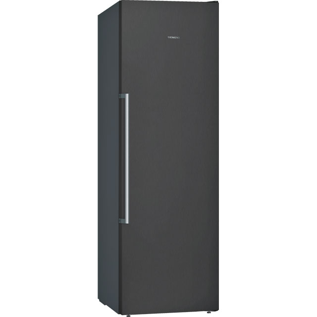 Siemens IQ-500 GS36NAX3V Frost Free Upright Freezer - Black / Stainless Steel Look - A++ Rated - GS36NAX3V_BK - 1