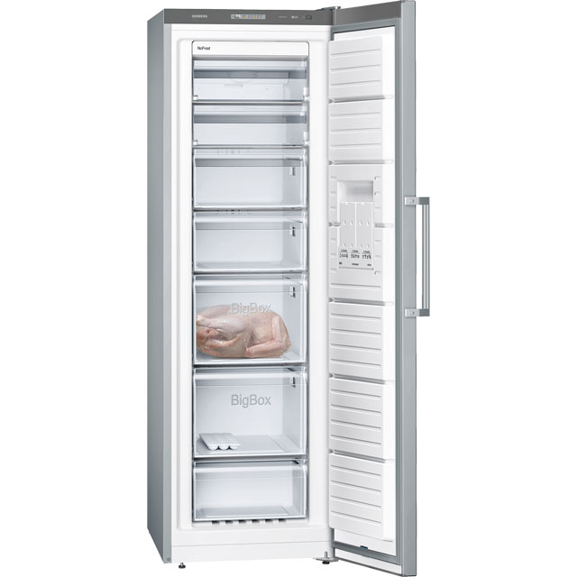 Siemens IQ-300 GS36NVI3V Upright Freezer - Stainless Steel Effect - GS36NVI3V_SSL - 3