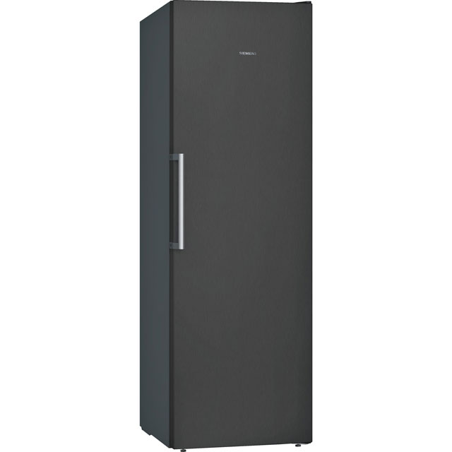 Siemens IQ-300 GS36NVX3PG Upright Freezer - Black Glass / Stainless Steel Look - GS36NVX3PG_BK - 1