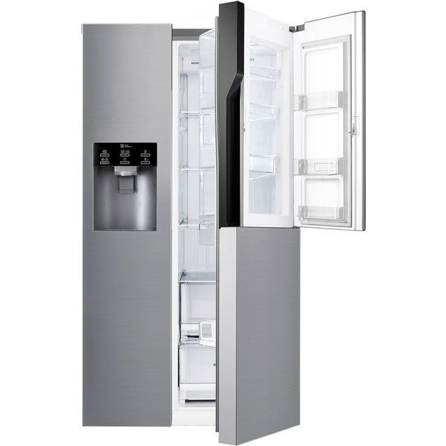 LG Door-in-Door™ GSJ560PZXV American Fridge Freezer - Steel - A+ Rated Best Price, Cheapest Prices